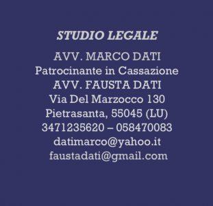 STUDIO LEGALE AVV. MARCO DATI & AVV. FAUSTA DATI